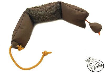 Bracco Duck Dummy pro výuku úchopu pernaté zvěře 1200 g- s peřím nebo bez.