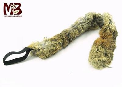 Bracco přetahovadlo pro psa s pravou kožešinou- různé velikosti