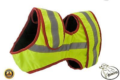 Bracco signální vesta pro psa žlutá, různé velikosti.